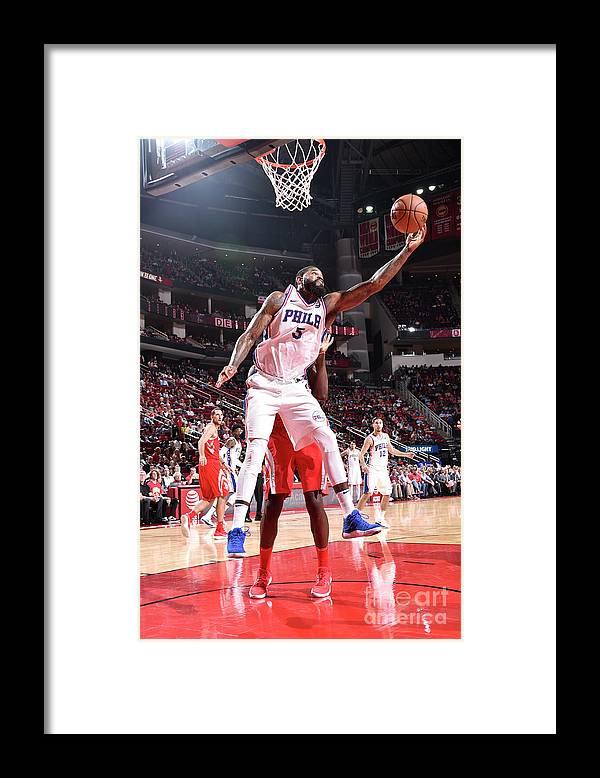 Nba Pro Basketball Framed Print featuring the photograph Amir Johnson by Bill Baptist
