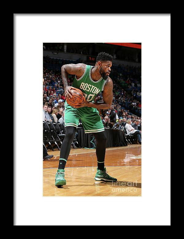 Nba Pro Basketball Framed Print featuring the photograph Amir Johnson by David Sherman