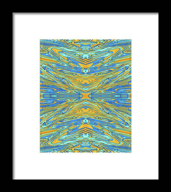 Abstract Framed Print featuring the digital art Ancient Goblet by Jack Entropy
