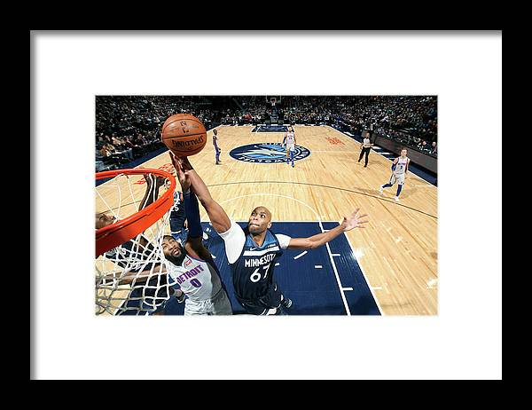 Nba Pro Basketball Framed Print featuring the photograph Andre Drummond and Taj Gibson by David Sherman