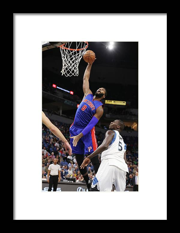 Nba Pro Basketball Framed Print featuring the photograph Andre Drummond by Jordan Johnson