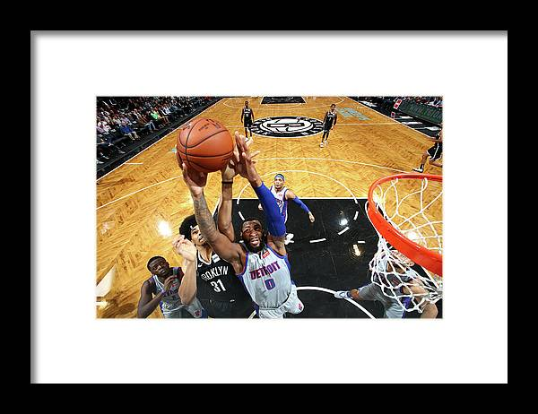 Nba Pro Basketball Framed Print featuring the photograph Andre Drummond by Nathaniel S. Butler