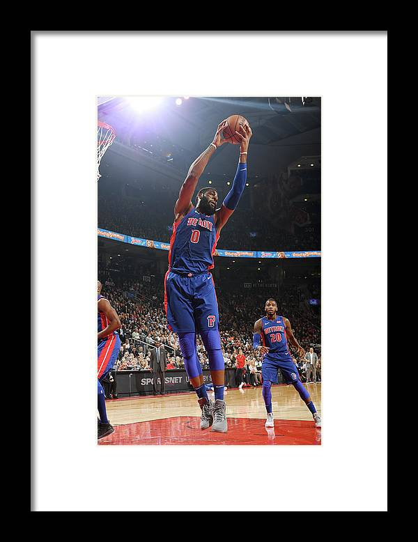 Nba Pro Basketball Framed Print featuring the photograph Andre Drummond by Ron Turenne