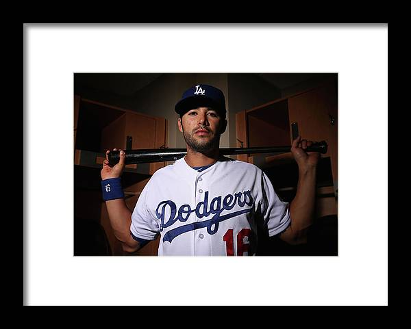 Media Day Framed Print featuring the photograph Andre Ethier by Christian Petersen