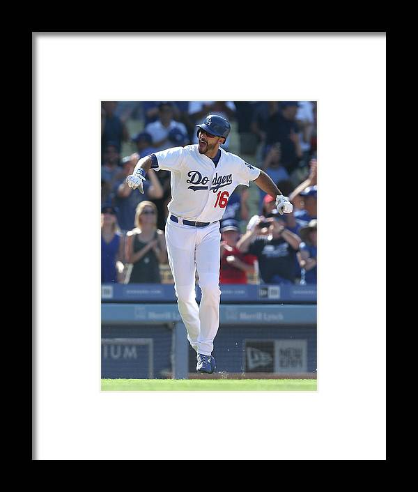 People Framed Print featuring the photograph Andre Ethier by Stephen Dunn