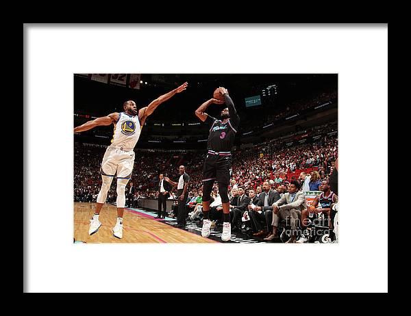 Nba Pro Basketball Framed Print featuring the photograph Andre Iguodala and Dwyane Wade by Issac Baldizon