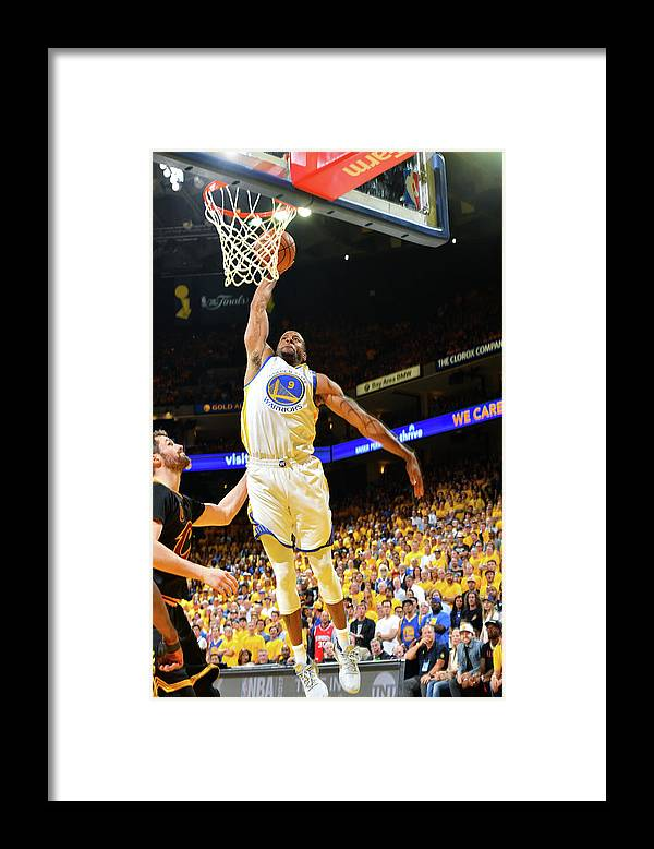 Playoffs Framed Print featuring the photograph Andre Iguodala and Stephen Curry by Jesse D. Garrabrant