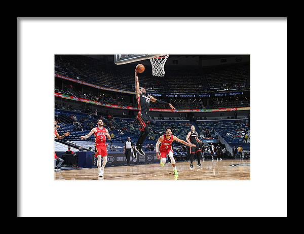 Smoothie King Center Framed Print featuring the photograph Andre Iguodala by Layne Murdoch Jr.
