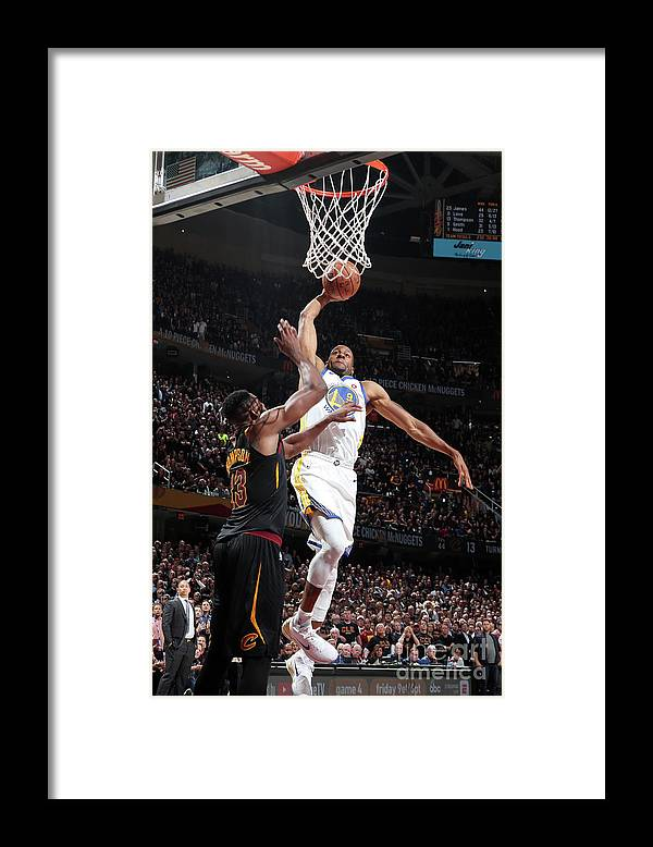 Playoffs Framed Print featuring the photograph Andre Iguodala by Nathaniel S. Butler
