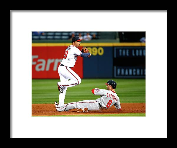 Atlanta Framed Print featuring the photograph Andrelton Simmons and Danny Espinosa by Kevin C. Cox