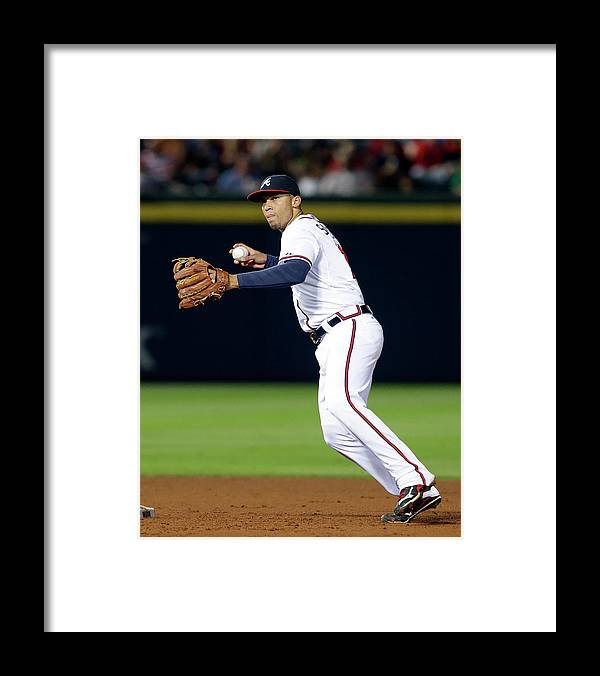 Atlanta Framed Print featuring the photograph Andrelton Simmons by Butch Dill