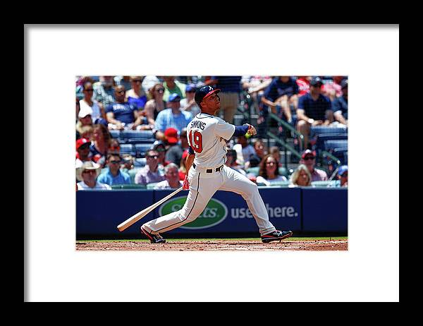 Atlanta Framed Print featuring the photograph Andrelton Simmons by Kevin Liles