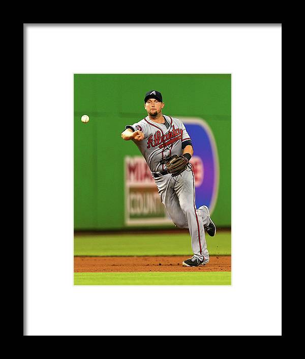 American League Baseball Framed Print featuring the photograph Andrelton Simmons by Mike Ehrmann