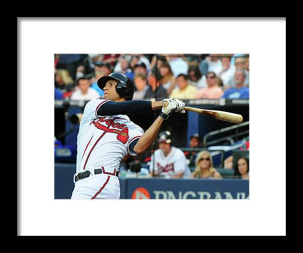 Atlanta Framed Print featuring the photograph Andrelton Simmons by Scott Cunningham