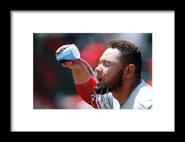 Great American Ball Park Framed Print featuring the photograph Andres Blanco by Joe Robbins