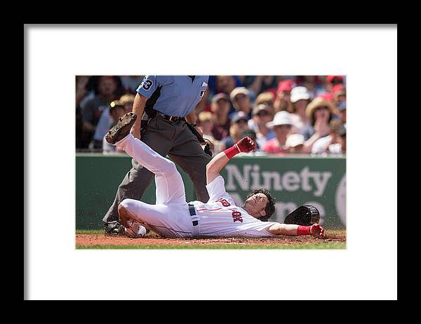 Second Inning Framed Print featuring the photograph Andrew Benintendi by Billie Weiss/boston Red Sox