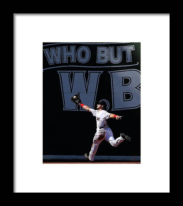 People Framed Print featuring the photograph Andrew Benintendi by Jim Rogash
