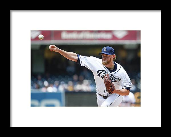 American League Baseball Framed Print featuring the photograph Andrew Cashner by Denis Poroy