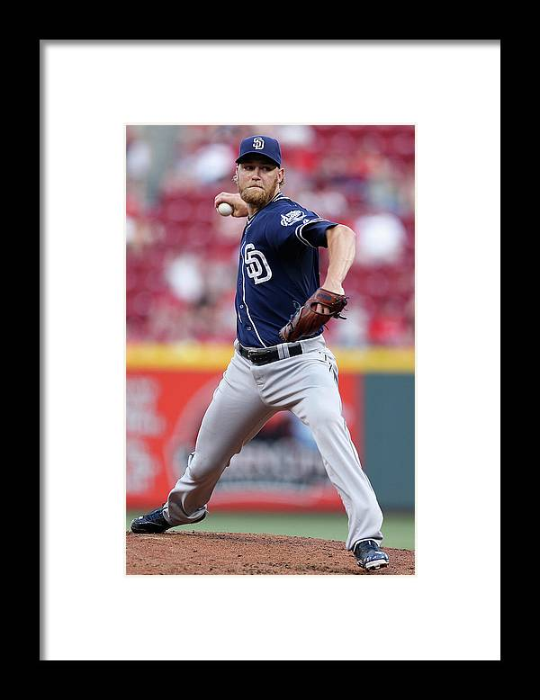 Great American Ball Park Framed Print featuring the photograph Andrew Cashner by Joe Robbins