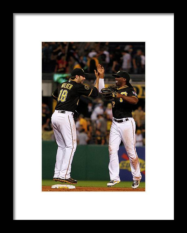 Professional Sport Framed Print featuring the photograph Andrew Mccutchen and Neil Walker by Justin K. Aller