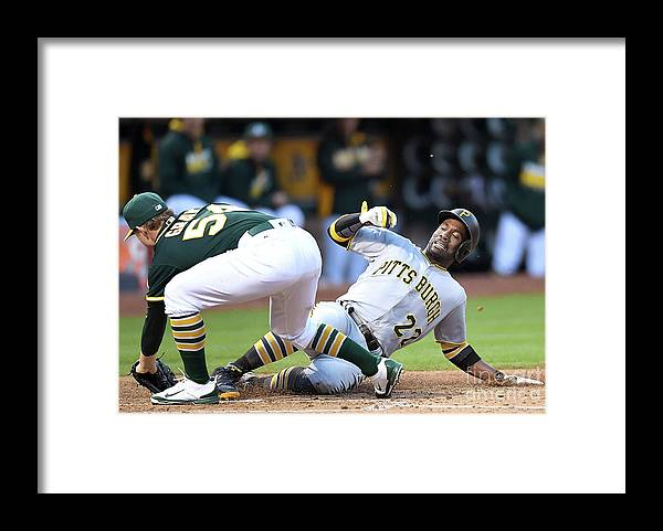 People Framed Print featuring the photograph Andrew Mccutchen and Sonny Gray by Thearon W. Henderson