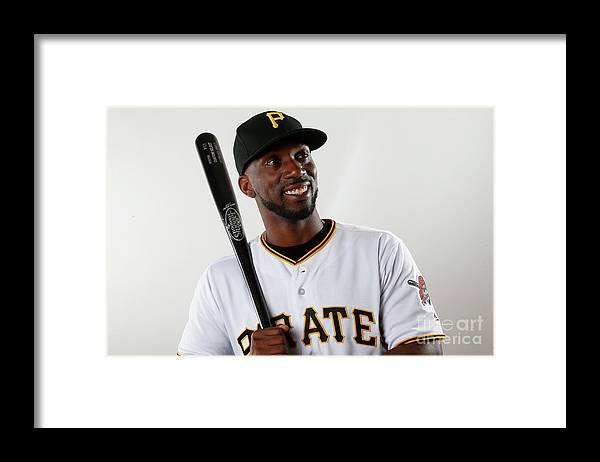 Media Day Framed Print featuring the photograph Andrew Mccutchen by Brian Blanco