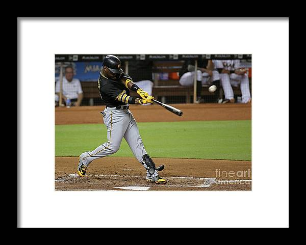 People Framed Print featuring the photograph Andrew Mccutchen by Mike Ehrmann