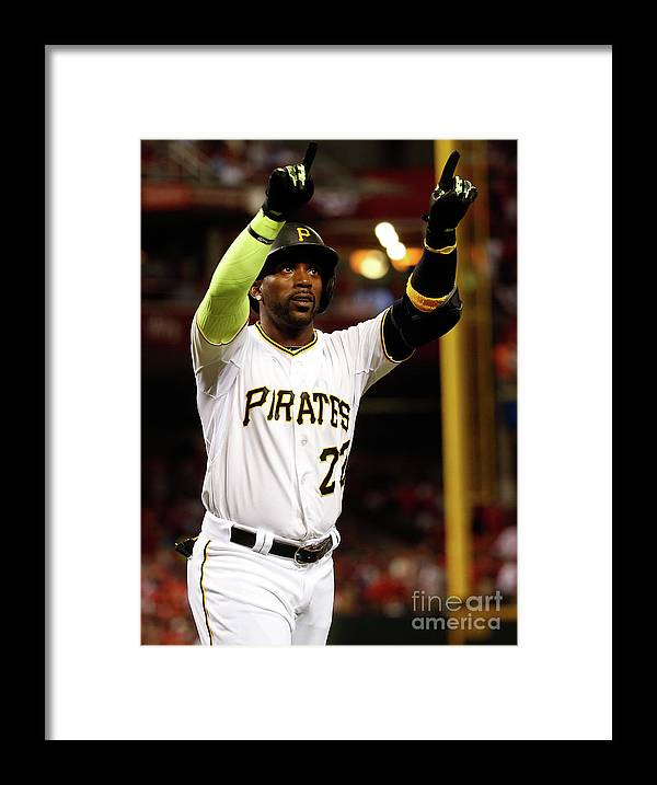 Great American Ball Park Framed Print featuring the photograph Andrew Mccutchen by Rob Carr