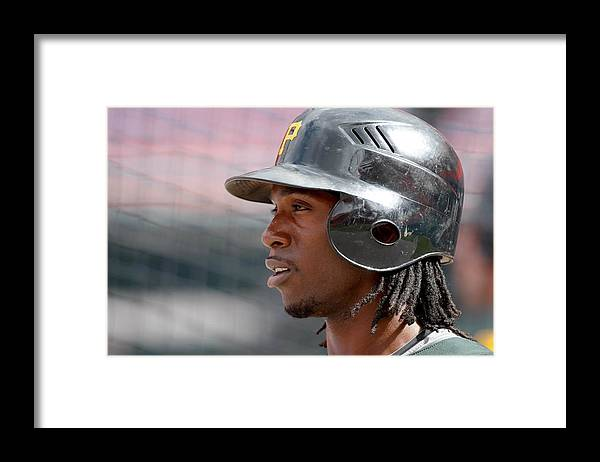 Hard Rock Stadium Framed Print featuring the photograph Andrew Mccutchen by Ronald C. Modra/sports Imagery