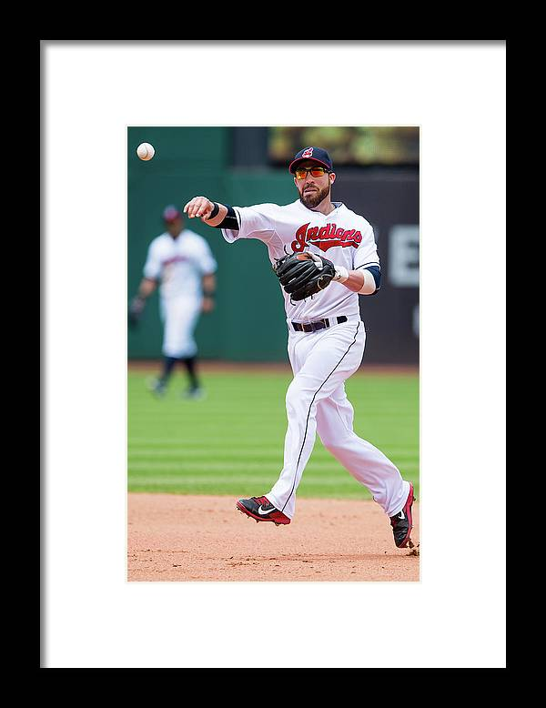 Andrew Romine Framed Print featuring the photograph Andrew Romine and Jason Kipnis by Jason Miller
