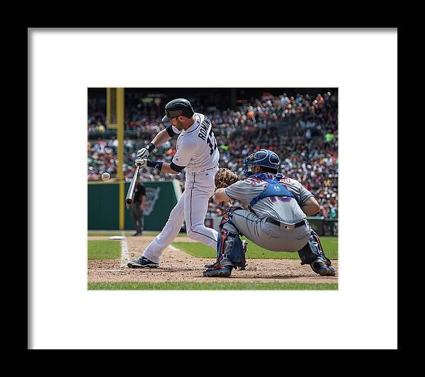 Andrew Romine Framed Print featuring the photograph Andrew Romine by Dave Reginek