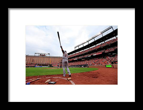 Andrew Romine Framed Print featuring the photograph Andrew Romine by Rob Carr