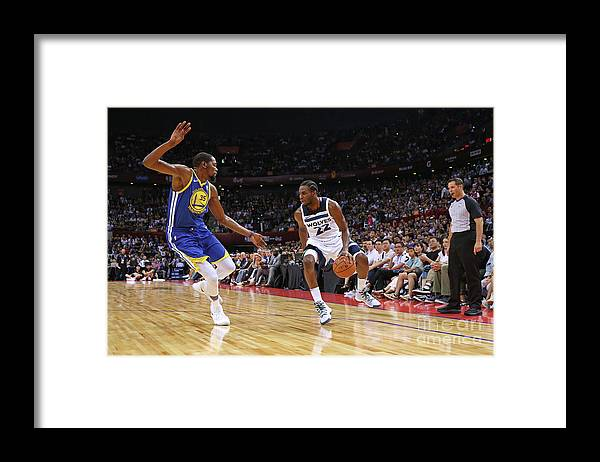 Event Framed Print featuring the photograph Andrew Wiggins and Kevin Durant by David Sherman