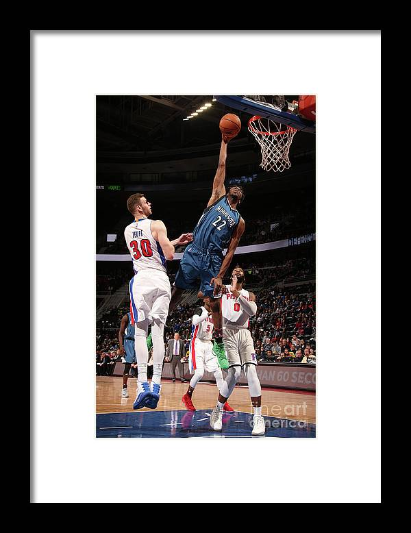 Nba Pro Basketball Framed Print featuring the photograph Andrew Wiggins by Brian Sevald