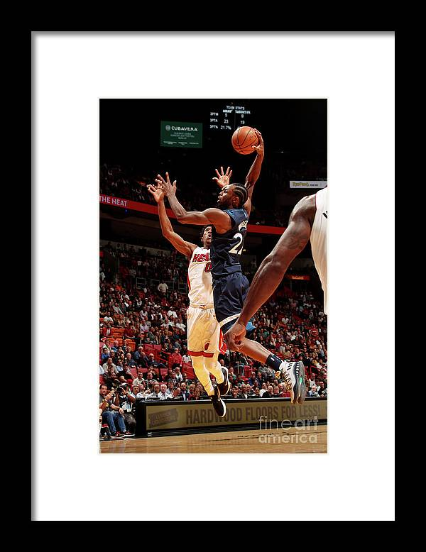 Nba Pro Basketball Framed Print featuring the photograph Andrew Wiggins by Issac Baldizon