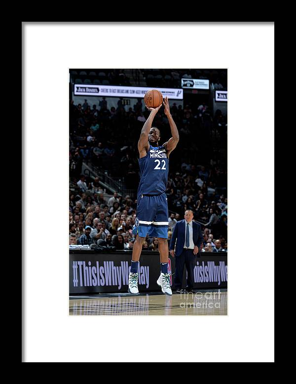 Nba Pro Basketball Framed Print featuring the photograph Andrew Wiggins by Mark Sobhani