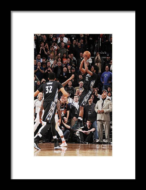 Nba Pro Basketball Framed Print featuring the photograph Andrew Wiggins by Michael Gonzales