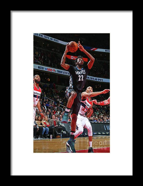 Nba Pro Basketball Framed Print featuring the photograph Andrew Wiggins by Ned Dishman