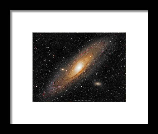 Andromeda Galaxy Framed Print featuring the photograph Andromeda Galaxy by Prabhu Astrophotography