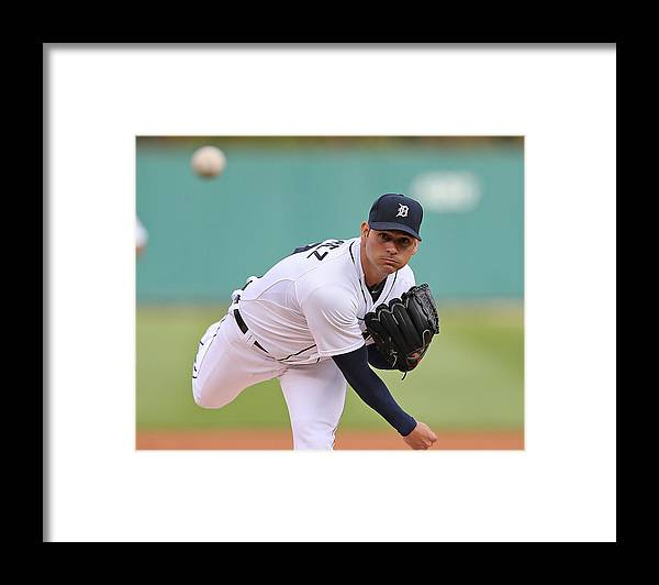 American League Baseball Framed Print featuring the photograph Anibal Sanchez by Leon Halip