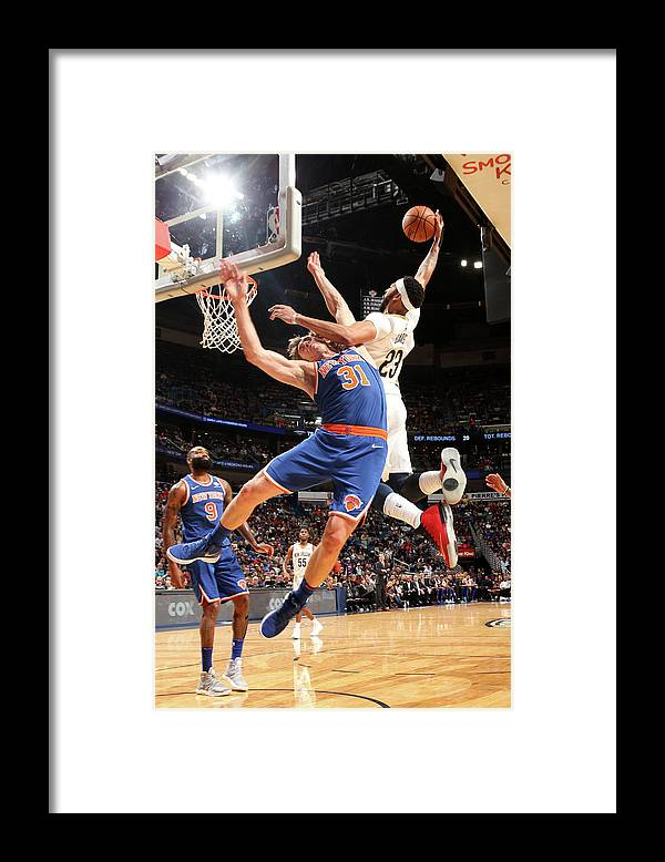 Smoothie King Center Framed Print featuring the photograph Anthony Davis and Ron Baker by Layne Murdoch