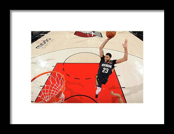 Playoffs Framed Print featuring the photograph Anthony Davis by Cameron Browne