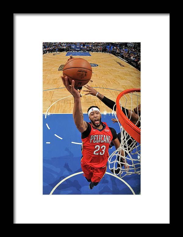Nba Pro Basketball Framed Print featuring the photograph Anthony Davis by Fernando Medina