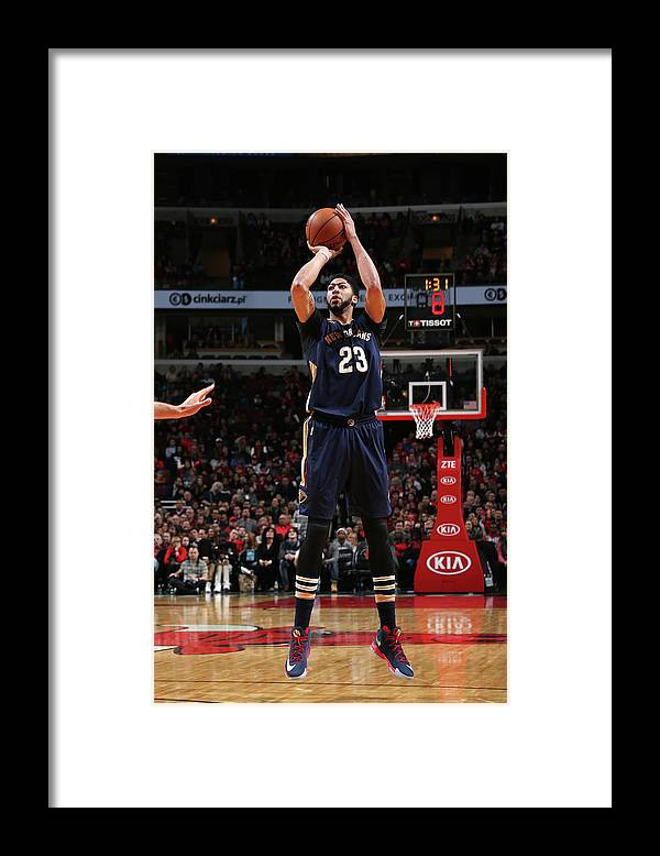 Nba Pro Basketball Framed Print featuring the photograph Anthony Davis by Gary Dineen