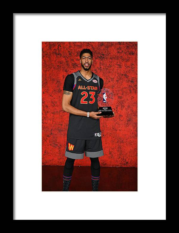 Event Framed Print featuring the photograph Anthony Davis by Jesse D. Garrabrant