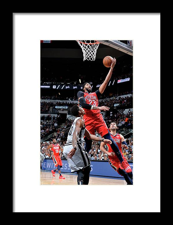 Nba Pro Basketball Framed Print featuring the photograph Anthony Davis by Mark Sobhani