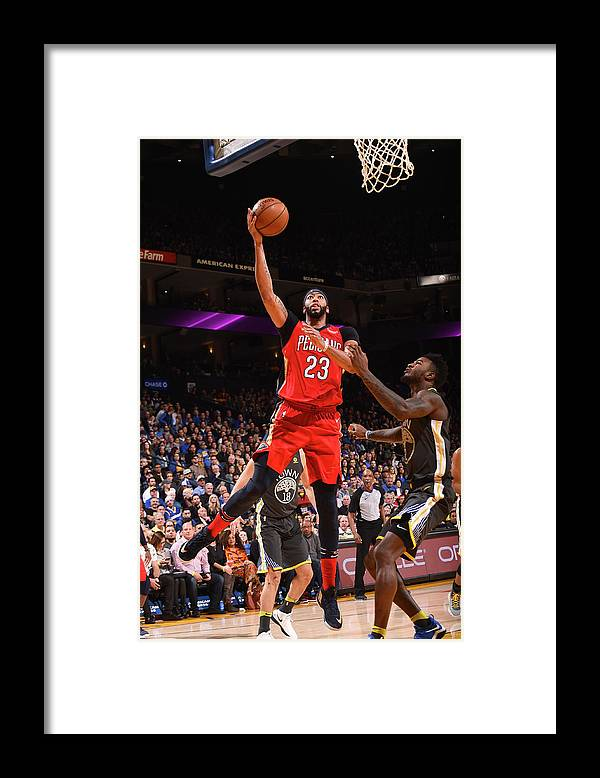 Nba Pro Basketball Framed Print featuring the photograph Anthony Davis by Noah Graham