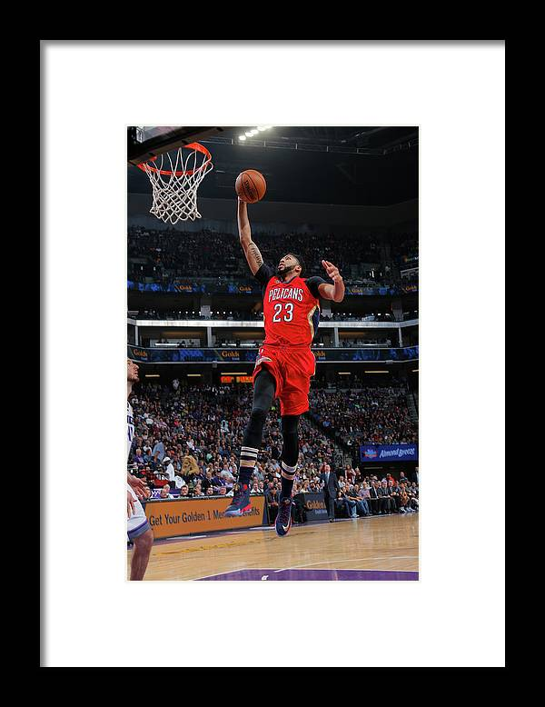 Nba Pro Basketball Framed Print featuring the photograph Anthony Davis by Rocky Widner
