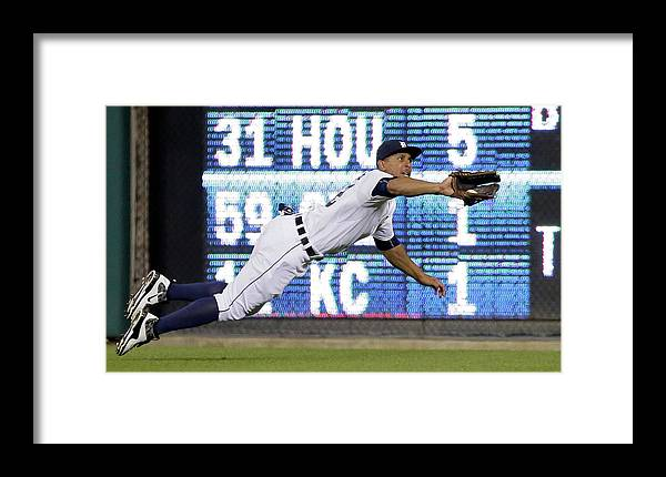 Ninth Inning Framed Print featuring the photograph Anthony Gose And Ben Zobrist by Duane Burleson