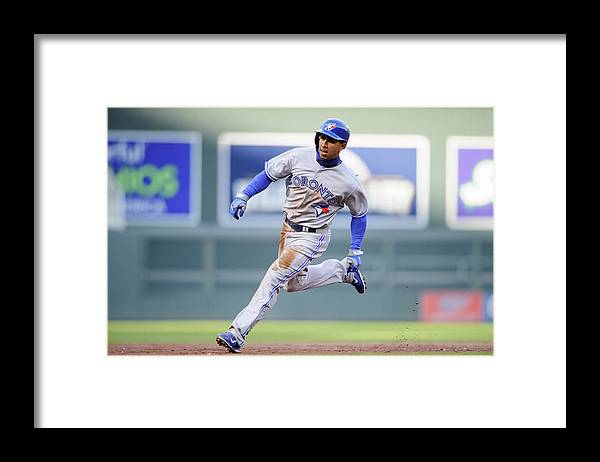 Game Two Framed Print featuring the photograph Anthony Gose by Hannah Foslien